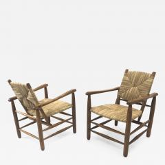 Charlotte Perriand Charlotte Perriand Iconic pair of Rush Arm Chair in Genuine Vintage Condition - 1120131