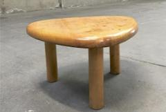 Charlotte Perriand Charlotte Perriand for Meribel tripod pine coffee table - 1002255