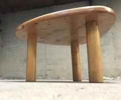 Charlotte Perriand Charlotte Perriand for Meribel tripod pine coffee table - 1002266