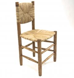Charlotte Perriand Charlotte Perriand genuine set of 4 Bauche chairs in ash tree and rush - 1119731