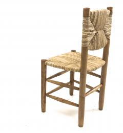 Charlotte Perriand Charlotte Perriand genuine set of 4 Bauche chairs in ash tree and rush - 1119732