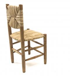 Charlotte Perriand Charlotte Perriand genuine set of 4 Bauche chairs in ash tree and rush - 1119733