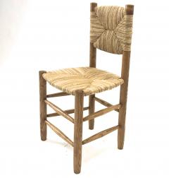 Charlotte Perriand Charlotte Perriand genuine set of 4 Bauche chairs in ash tree and rush - 1119734