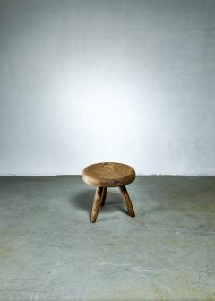 Charlotte Perriand Charlotte Perriand low ash tripod stool France - 1186375
