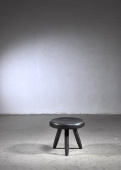 Charlotte Perriand Charlotte Perriand low black stool France - 1554872