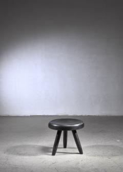 Charlotte Perriand Charlotte Perriand low black stool France - 1554873