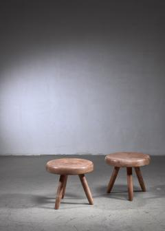 Charlotte Perriand Charlotte Perriand pair of low ash stools - 1584374