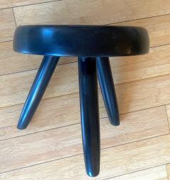Charlotte Perriand Charlotte Perriand rarest black tripod model berger stool - 1954046