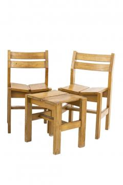 Charlotte Perriand Charlotte Perriand set de stools chairs - 2024859