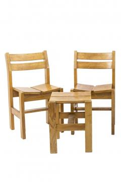Charlotte Perriand Charlotte Perriand set de stools chairs - 2024860