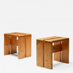 Charlotte Perriand Charlotte Perriand stools les Arcs 1960s - 2053129
