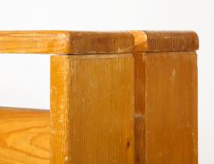 Charlotte Perriand Mid Century Natural Pine Les Arcs Stools by Charlotte Perriand France c 1960 - 1937513