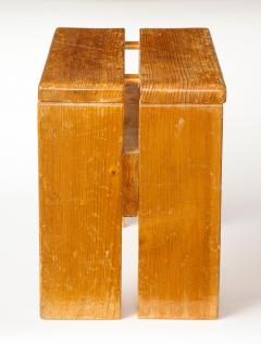 Charlotte Perriand Mid Century Natural Pine Les Arcs Stools by Charlotte Perriand France c 1960 - 1937515