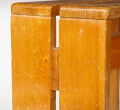 Charlotte Perriand Mid Century Natural Pine Les Arcs Stools by Charlotte Perriand France c 1960 - 1937520
