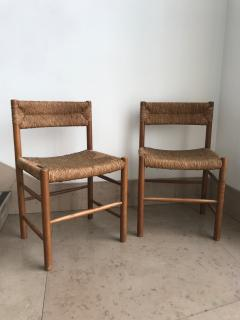 Charlotte Perriand Pair of Dordogne Chairs for Sentou 1950s - 2106679