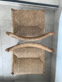 Charlotte Perriand Pair of Dordogne Chairs for Sentou 1950s - 2106682