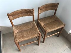 Charlotte Perriand Pair of Dordogne Chairs for Sentou 1950s - 2106685