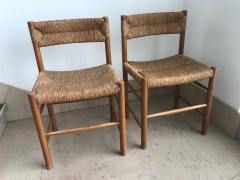 Charlotte Perriand Pair of Dordogne Chairs for Sentou 1950s - 2106686