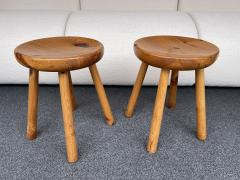 Charlotte Perriand Pair of Pine Stool Attributed to Charlotte Perriand France 1960s - 2020171