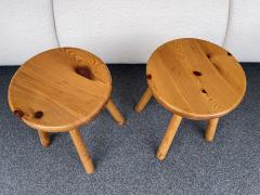Charlotte Perriand Pair of Pine Stool Attributed to Charlotte Perriand France 1960s - 2020172