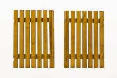 Charlotte Perriand Set of Four Pairs of Charlotte Perriand Slat Doors circa 1950 France - 811980