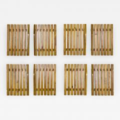 Charlotte Perriand Set of Four Pairs of Charlotte Perriand Slat Doors circa 1950 France - 813156