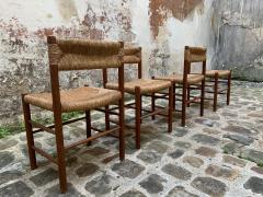 Charlotte Perriand Set of four Dordogne chairs for Sentou 1950s - 2054840
