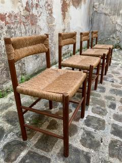 Charlotte Perriand Set of four Dordogne chairs for Sentou 1950s - 2054841