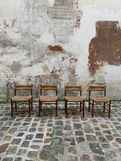 Charlotte Perriand Set of four Dordogne chairs for Sentou 1950s - 2054843