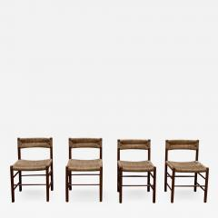 Charlotte Perriand Set of four Dordogne chairs for Sentou 1950s - 2055276