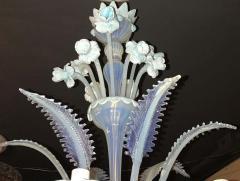 Charming Blue Murano Glass Chandelier Venice 1960 - 1622519