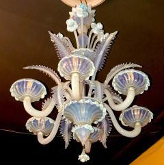 Charming Blue Murano Glass Chandelier Venice 1960 - 1622521