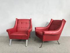 Charming Pair of Armchairs Gardella Style - 1161483