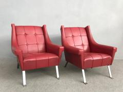 Charming Pair of Armchairs Gardella Style - 1161485