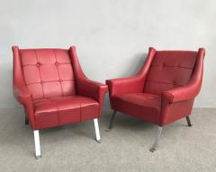 Charming Pair of Armchairs Gardella Style - 1161491