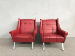 Charming Pair of Armchairs Gardella Style - 1161493