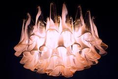 Charming Pink and White Murano Petals Chandelier or Ceiling Light - 2070882