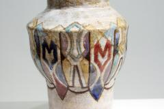 Chaty Vallauris Beautiful Colored Ceramic Vase Signed Vallauris circa 1950s - 2003279