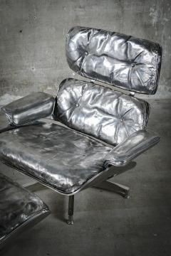 Cheryl Ekstrom Eames Lounge Chair and Ottoman Stainless Steel Sculpture - 445556