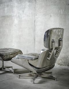 Cheryl Ekstrom Eames Lounge Chair and Ottoman Stainless Steel Sculpture - 445559