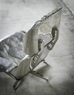 Cheryl Ekstrom Eames Lounge Chair and Ottoman Stainless Steel Sculpture - 445560