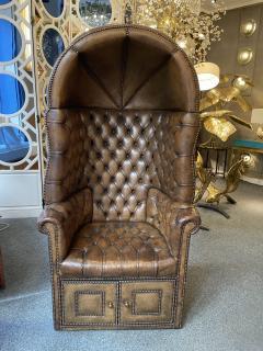 Chesterfield style Carrosse armchair circa 1950 - 2043545