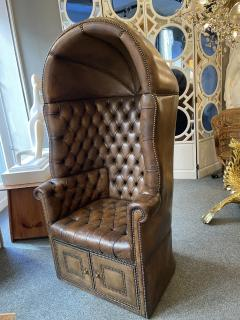 Chesterfield style Carrosse armchair circa 1950 - 2043546