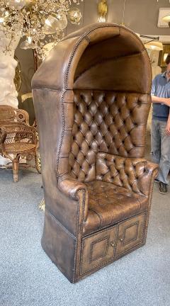 Chesterfield style Carrosse armchair circa 1950 - 2043550