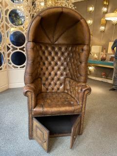 Chesterfield style Carrosse armchair circa 1950 - 2043556