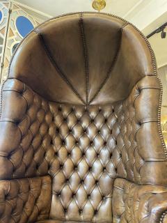 Chesterfield style Carrosse armchair circa 1950 - 2043561
