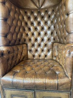 Chesterfield style Carrosse armchair circa 1950 - 2043562