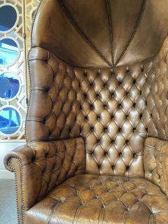 Chesterfield style Carrosse armchair circa 1950 - 2043563