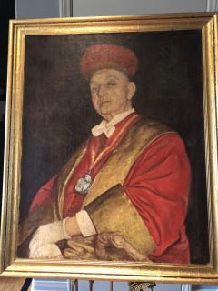 Chevalier du Tastevin Enormous French Oil on Canvas - 1195163