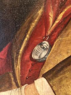 Chevalier du Tastevin Enormous French Oil on Canvas - 1195167